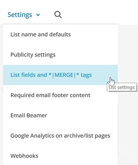 How to add a new field to a MailChimp list.